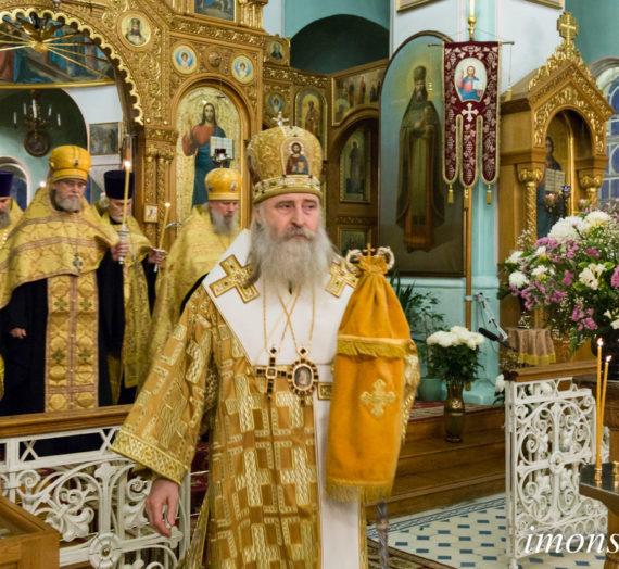 Архиепископ Феогност совершил богослужения в Иоанновском монастыре Санкт-Петербурга.