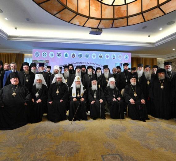 Святейший Патриарх Кирилл принял участие во встрече Предстоятелей и делегаций Поместных Православных Церквей в Аммане.