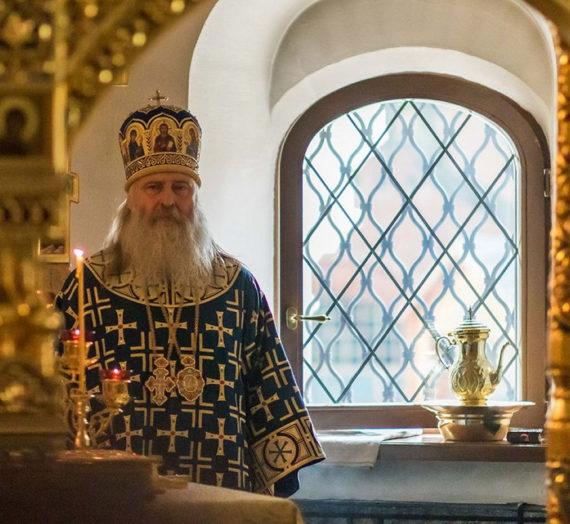 Архиепископ Феогност совершил Литургию в Зачатьевском монастыре.