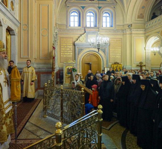 Архиепископ Феогност совершил Литургию в Иоанно-Предтеченском монастыре.
