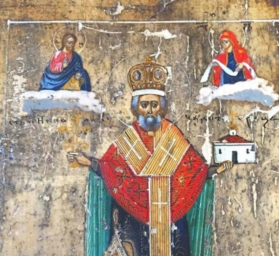 Образ святителя Николая в Казанской обители.