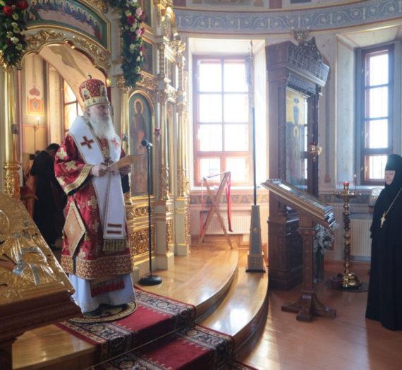 Архиепископ Феогност передал Патриаршее поздравление настоятельнице Аносина монастыря по случаю 60-летия со дня рождения.