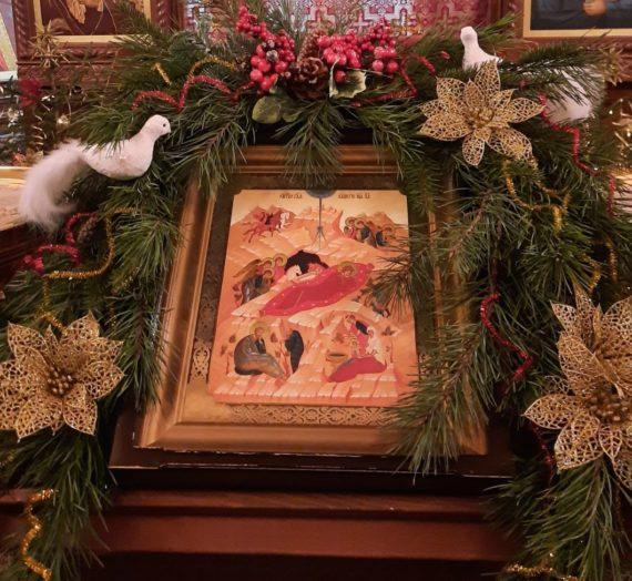 Служба в Рождественский сочельник на подворье Богородицкого Житенного монастыря
