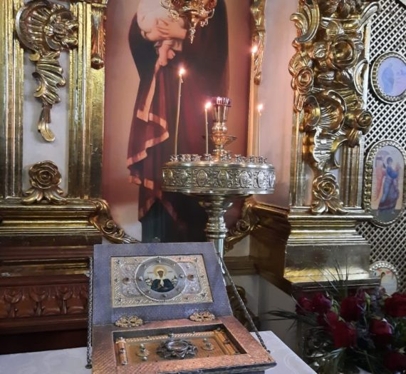 Мощи праведной старицы Матроны Московской в Богородицком женском монастыре