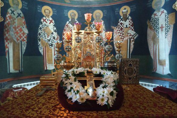 Канун Изнесения Древ Животворящего Креста Господня в Николаевском Малицком мужском монастыре